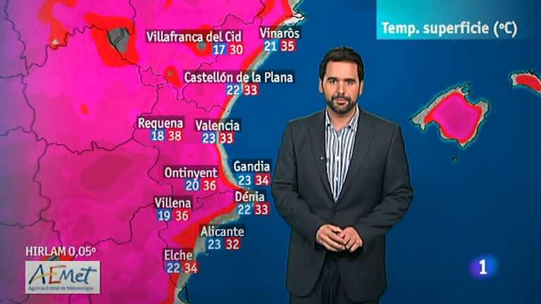 El tiempo en la Comunidad Valenciana - 08/08/12