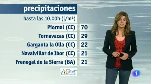 El tiempo en Extremadura 28/11/14