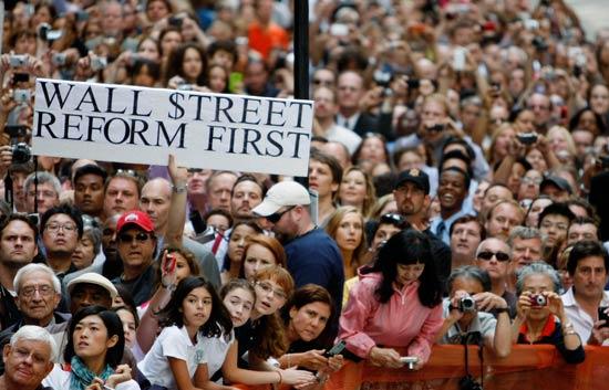Obama hace una fuerte llamada de atención sobre la necesidad de regulación de Wall Street