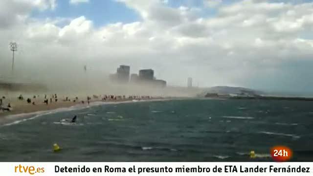Tormenta de arena en Barcelona
