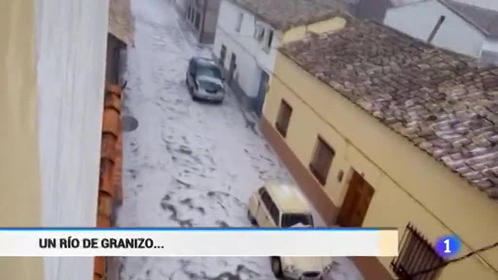 El granizo provoca grandes daños en las provincias de Cuenca y Murcia