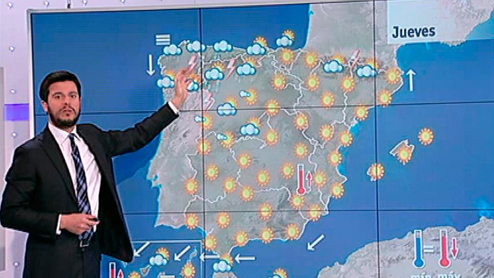 Tormentas en el noroeste, bajan las temperaturas en el norte