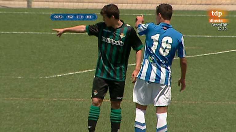 Fútbol - Torneo Interclubes Costa Blanca, fase previa. Real Sociedad - Real Betis Balompie. Desde Torrevieja (Alicante)
