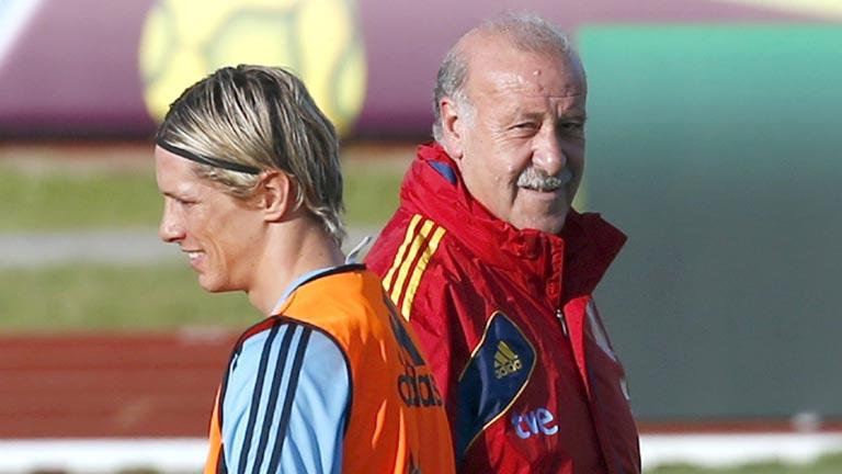 Torres brilla en el entrenamiento
