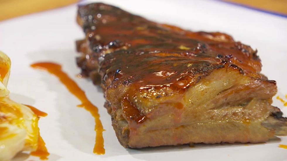 Receta de costillas de cerdo confitadas con salsa barbacoa Solomillo iberico al horno