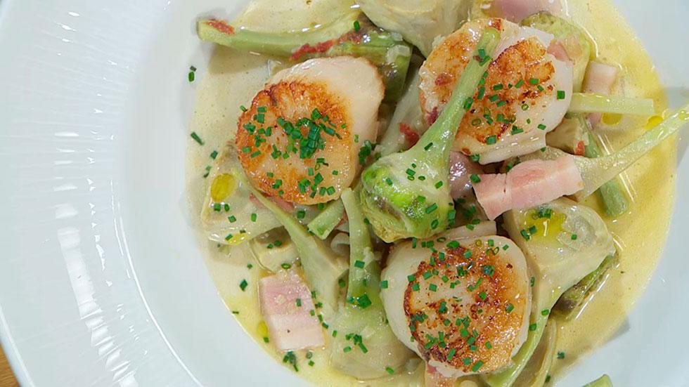 Torres en la cocina vieiras en salsa de cocido - Salsa para bogavante cocido ...