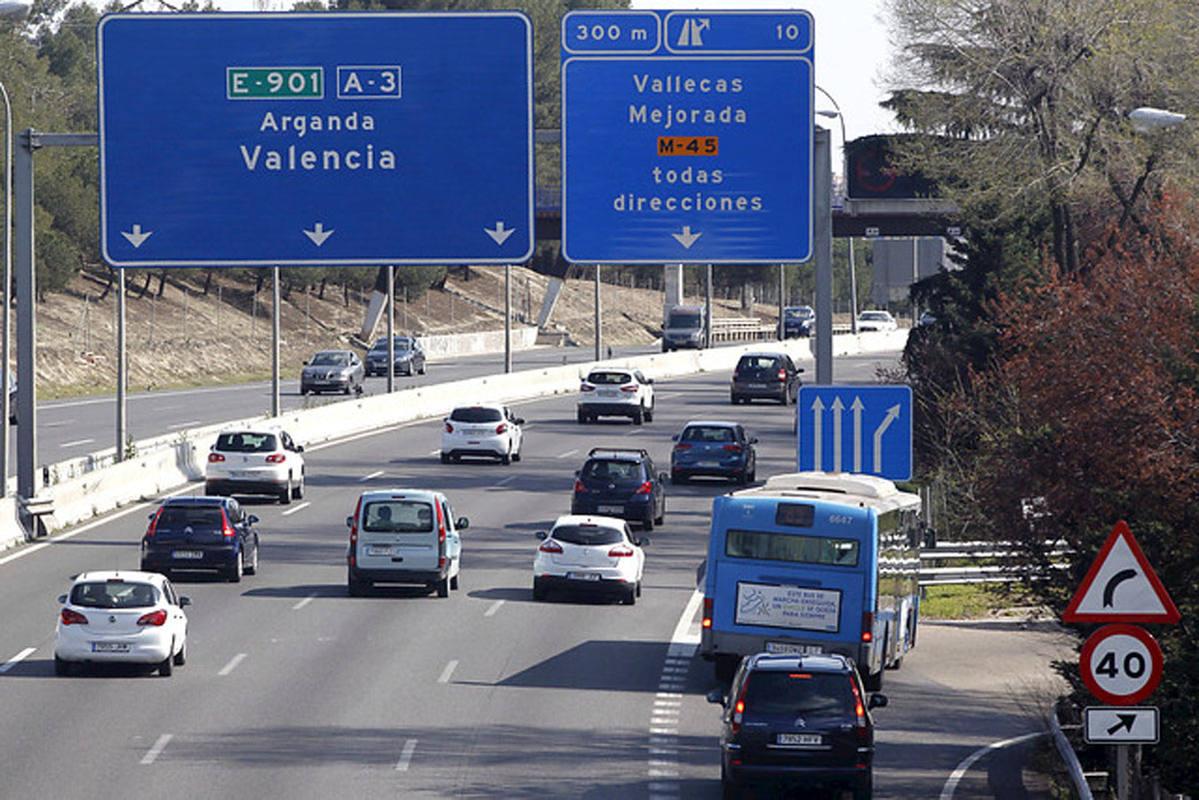 Atascos en las salidas de madrid por la a 3 a 4 y a 42 en for Direccion madrid espana