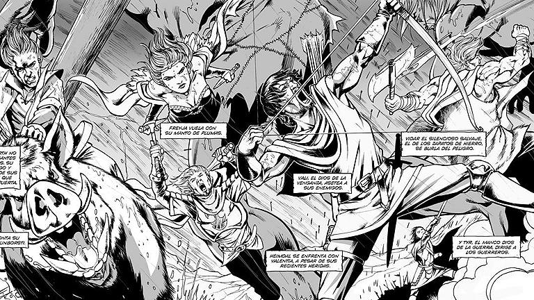 Tráiler de 'Ragnarök', un cómic de Víctor Santos y Pere Pérez