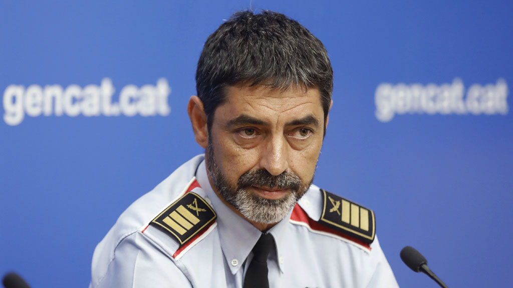 El major de los Mossos ordena a sus agentes a impedir el referéndum en Cataluña