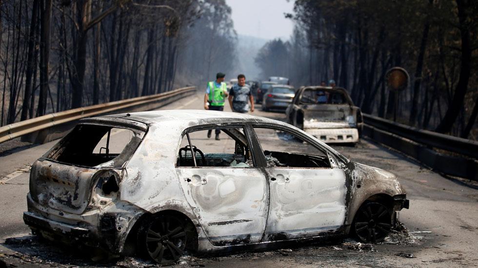 Treinta de los fallecidos en el incendio de Portugal murieron cuando intentaban huir de las llamas