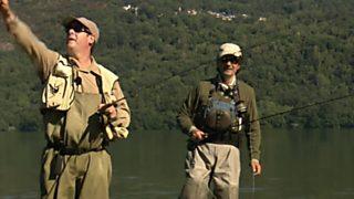 Jara y sedal - Tres amigos en el lago