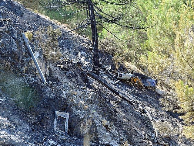 Tres muertos al estrellarse un helicóptero en Granada