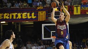 Un triple sobre la bocina de Huertas pone al Barça por delante en la final