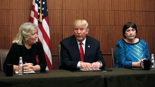 Trump celebra una rueda de prensa con mujeres que  acusaron a Bill Clinton de abusos sexuales