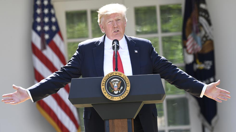 Trump saca a Estados Unidos del Acuerdo de París