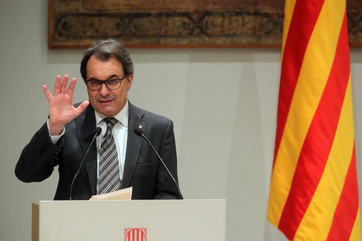 El TSJ de Cataluña ve indicios de desobediencia en el presidente de la Generalitat, Artur Mas.