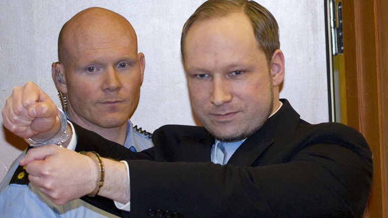 El ultraderechista Anders Behring Breivik, acusado de terrorismo por los atentados de Oslo