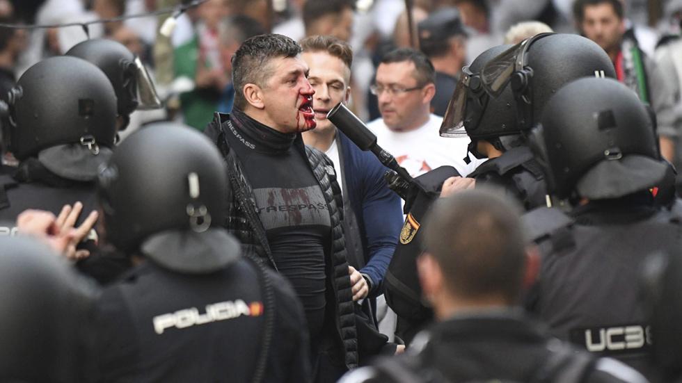 Los ultras del Legia provocan altercados en Madrid