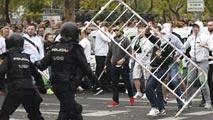 """Ir al VideoLos ultras del Legia que provocaron altercados en Madrid tienen """"estructura militar"""""""