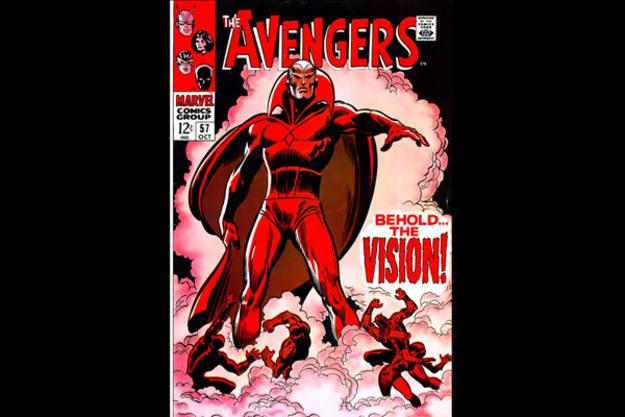 Ultrón creó a La Visión en el Nº 57 de Los Vengadores. Este androide es otro de los protagonistas de la película.