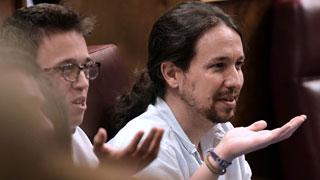 Unidos Podemos protesta tras negar la presidenta del Congreso la palabra a Iglesias para responder a Hernando