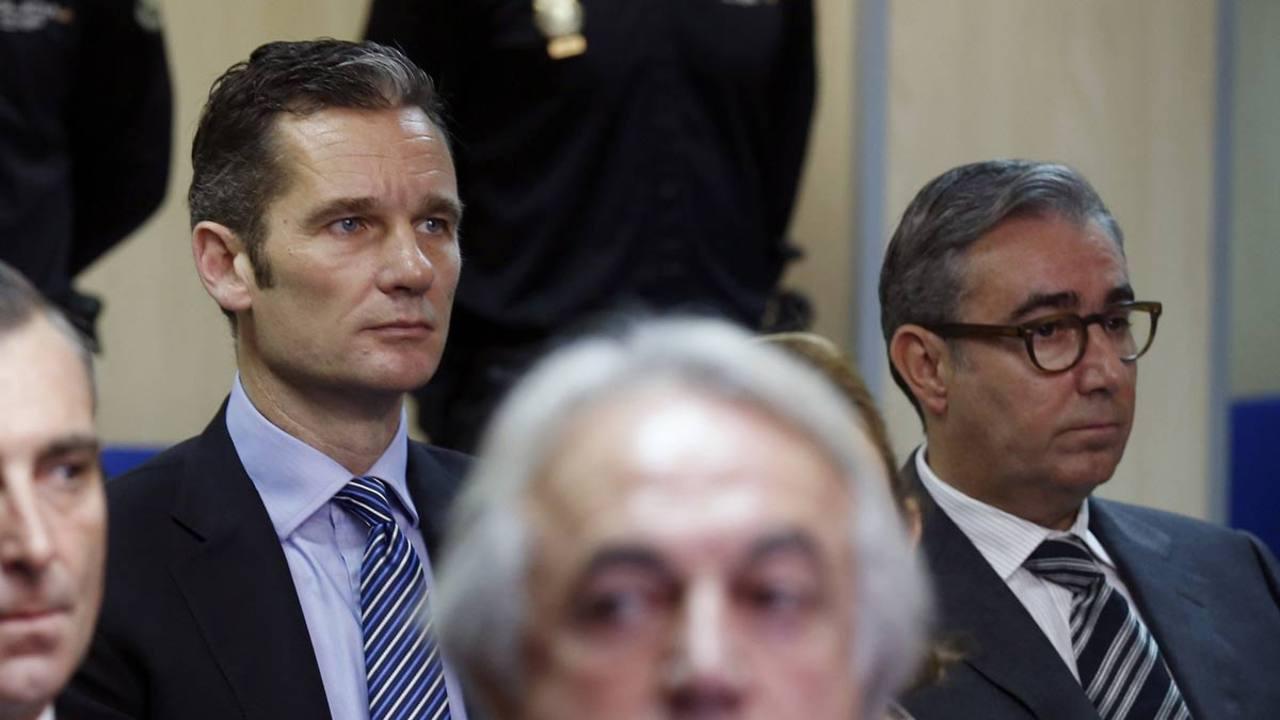 Urdangarin y su exsocio, Diego Torres, juntos en el juicio del caso Nóos.