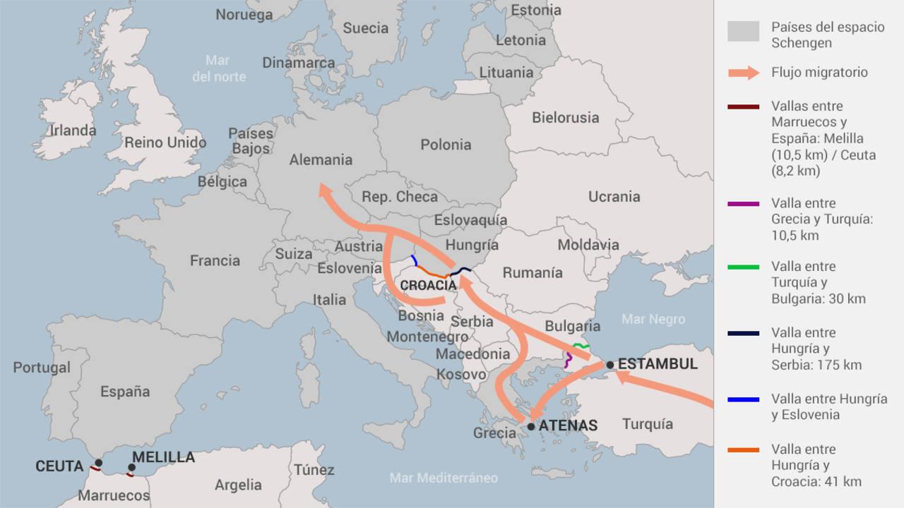 Las vallas de Europa contra los refugiados.