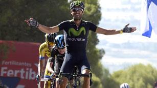Valverde demuestra su fuerza en las Cumbres Verdes