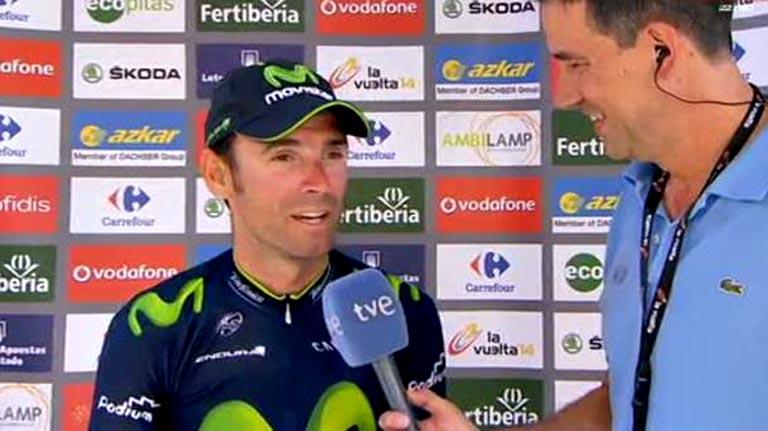 """Valverde: """"Estaba delante para evitar caídas y por eso me he puesto de líder"""""""
