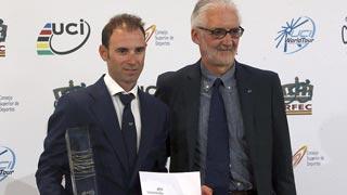 Valverde, Movistar y España, premios UCI World Tour