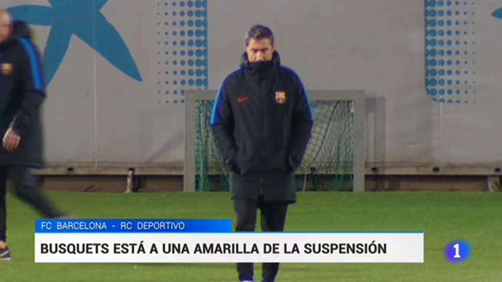 Valverde no se plantea dejar a Busquets fuera ante el Dépor