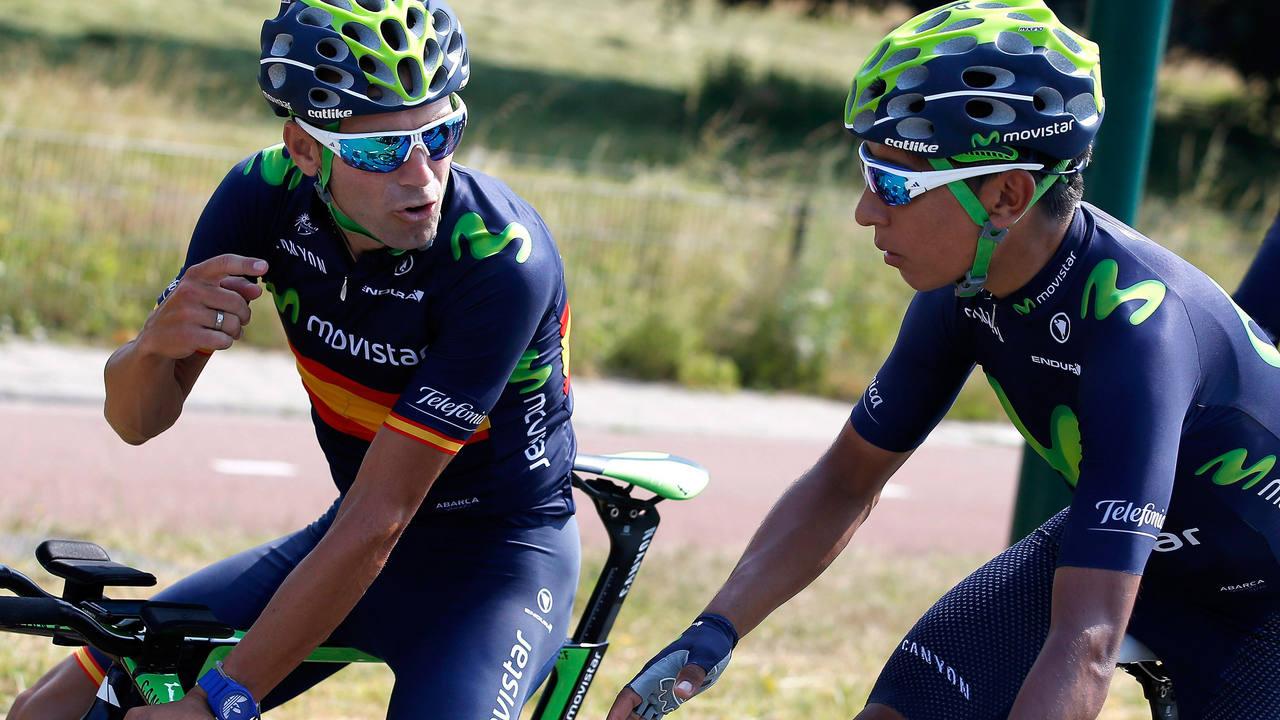 Valverde i Quintana segueixen de líders de l'equip