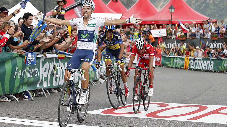 Valverde toma la Collada de la Gallina
