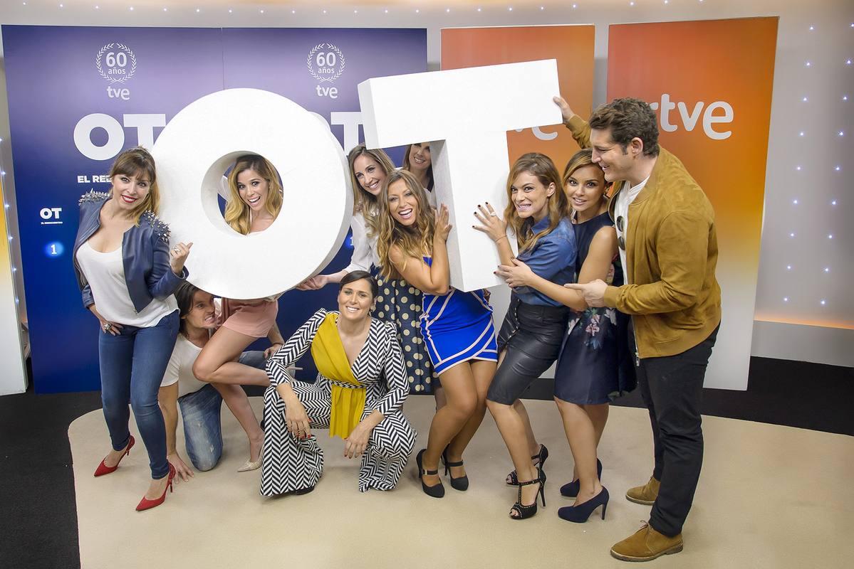 Varios de los artistas, reunidos en Torrespaña con motivo de 'OT: El reencuentro' que contará con tres especiales organizados por TVE y Gestmusic