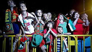 Los vecinos portugueses sufrieron por la eliminación