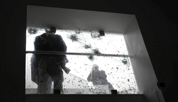Una ventana tiroteada en el ataque al museo Bardo en Túnez
