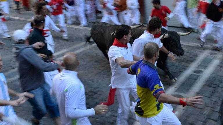 Vertiginoso séptimo encierro de San Fermín 2012, de J.P Domecq