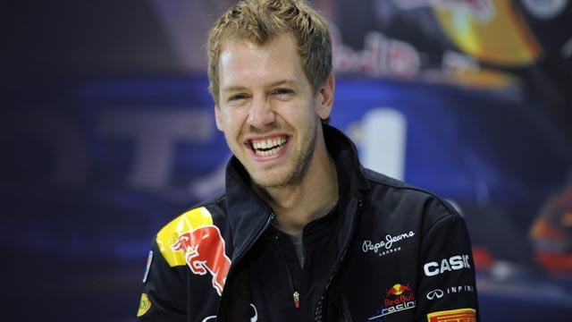 Vettel sigue de celebrac
