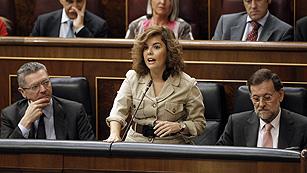 """La vicepresidenta pide """"frialdad"""" para analizar la manifestación  de la Diada"""