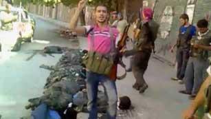 Un vídeo muestra la ejecución de 20 sirios
