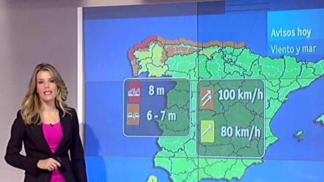 Vientos fuertes en Galicia y el Cantábrico