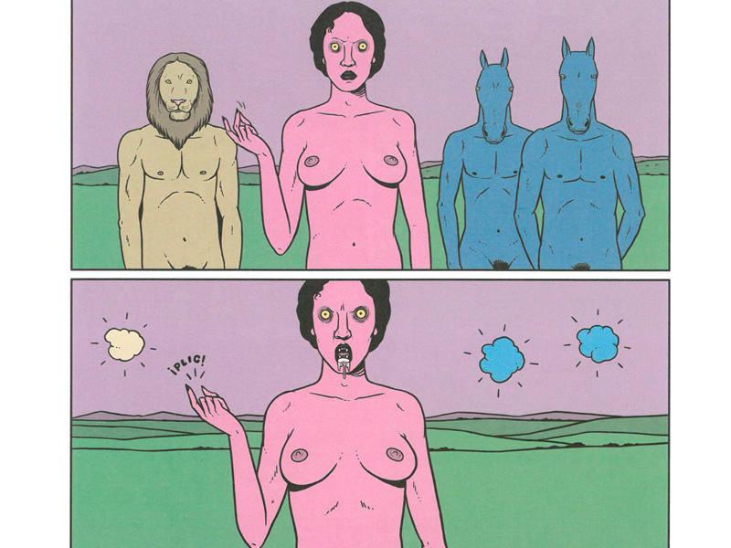 Viñetas basadas en 'El sueño', de Franz Marc