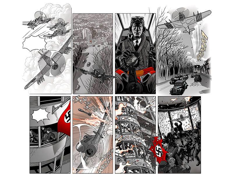 Viñetas de 'A la sombra del convoy'