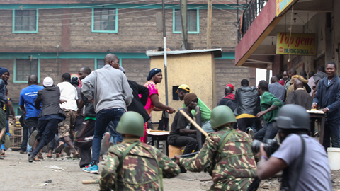 Violentos enfrentamientos en Nairobi entre partidarios de la oposición y agentes de la Policía