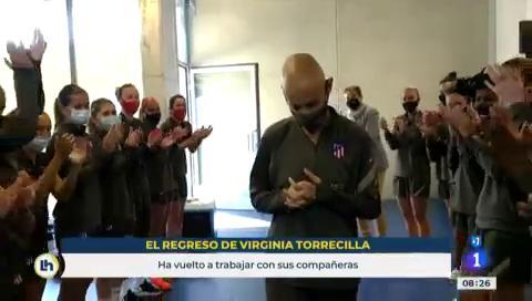 Ir al VideoVirginia Torrecilla vuelve a entrenar 10 meses después de ser operada de un tumor