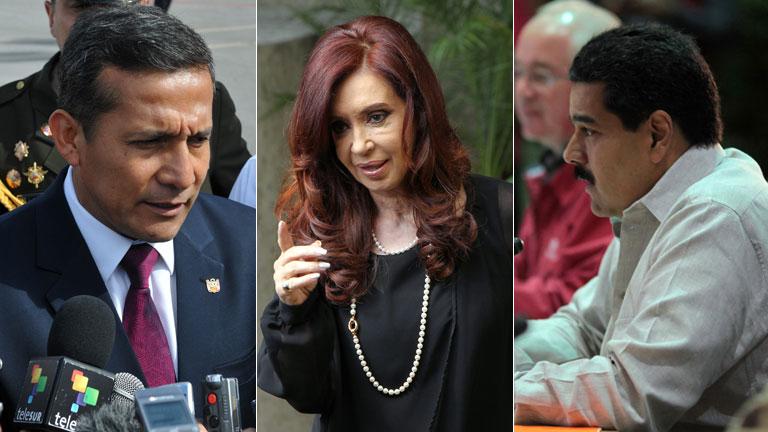 Maduro, Kirchner y Humala visitan a Hugo Chávez en Cuba