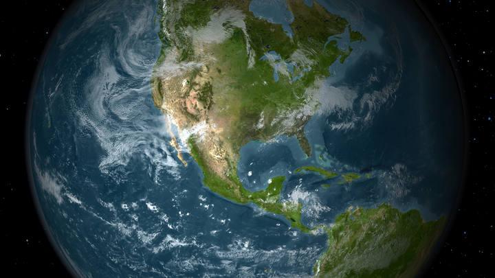 Vista de América central y América del norte.