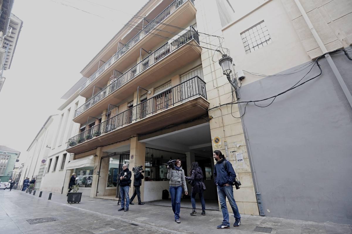 Vista del domicilio del expresidente de la Diputación de Valencia y del PP provincial Alfonso Rus