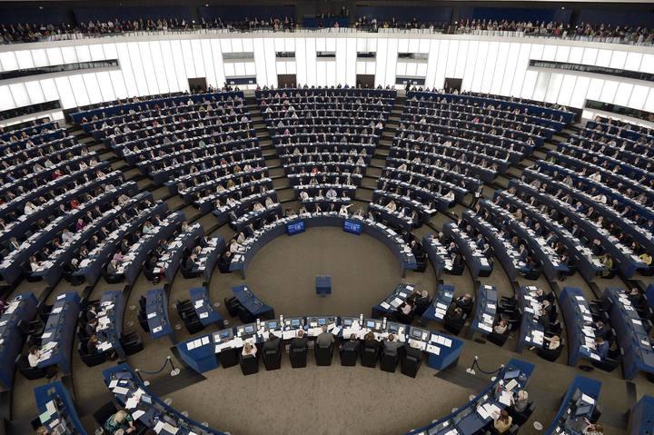 Vista general de la sesión plenaria del Parlamento Europeo, este miércoles en Estrasburgo
