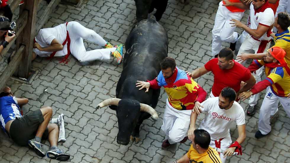 Encierro Completo con toros de Garcigrande 13 de Julio 2015 San Fermin - Pamplona